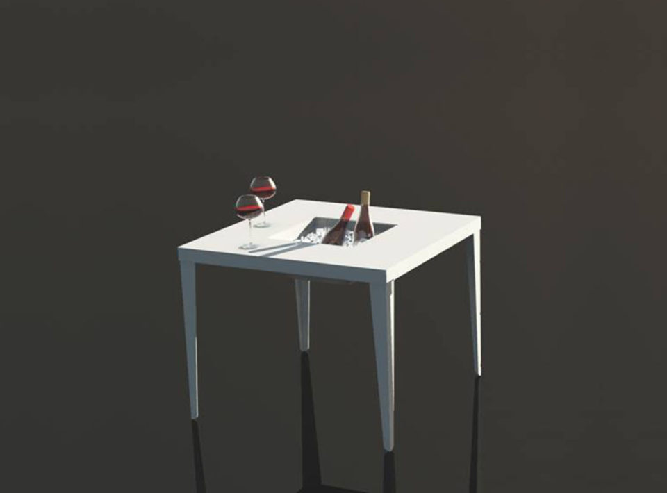Cenetta Square aluminum Table