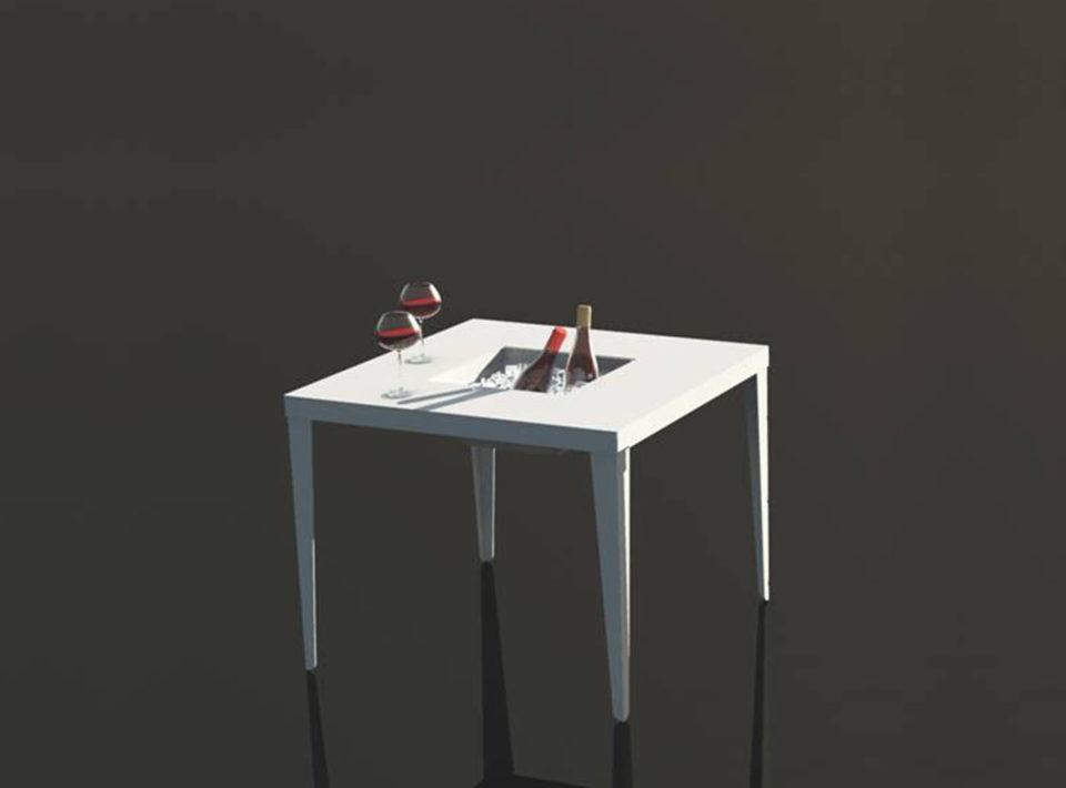 Cenetta Square aluminum Table
