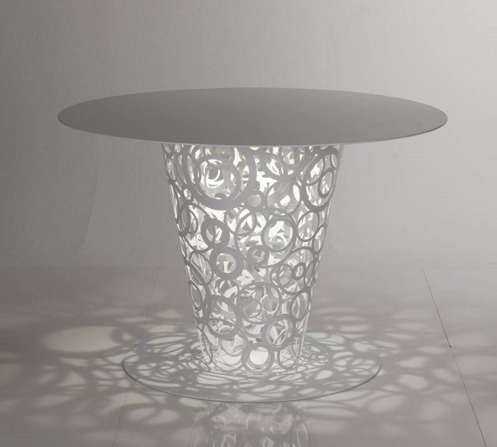 Fra table in aluminum