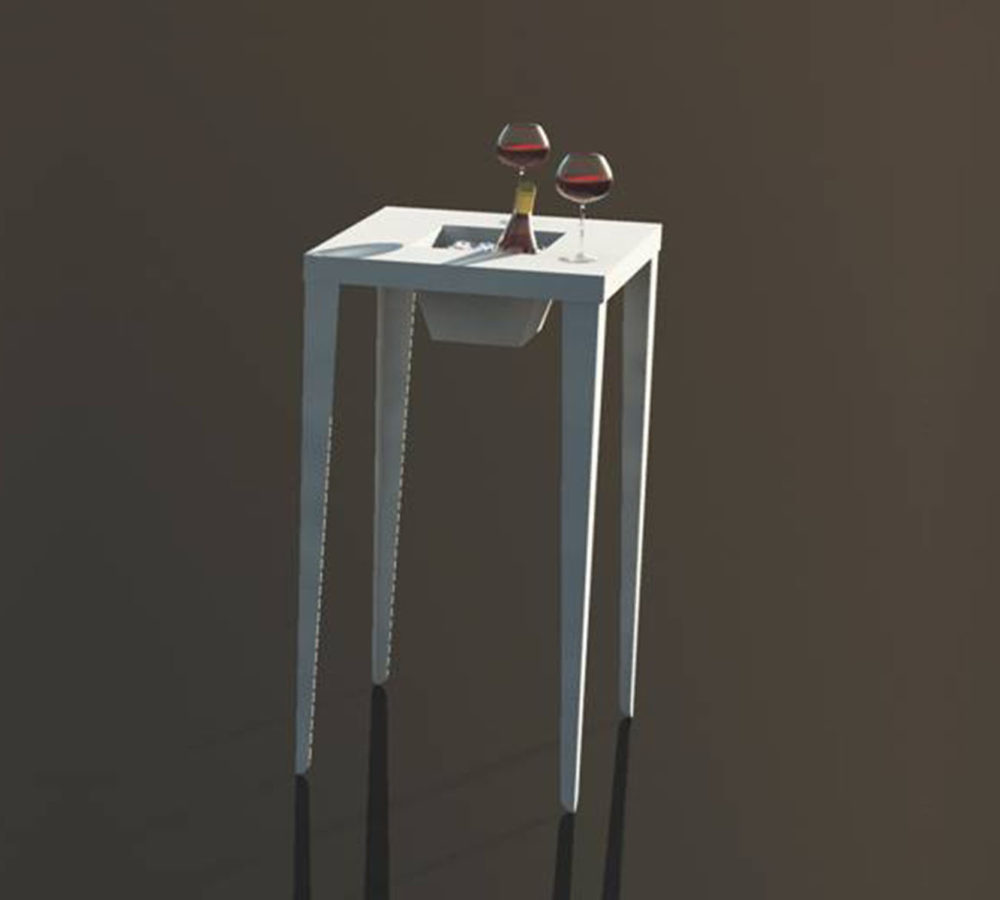 Ivo Square Table with planter