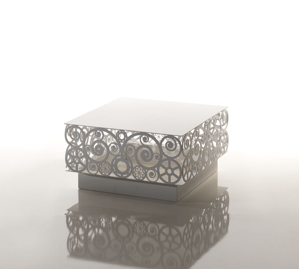 Lace coffee table