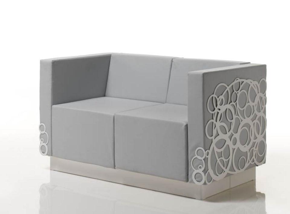 Bito divanetto in alluminio