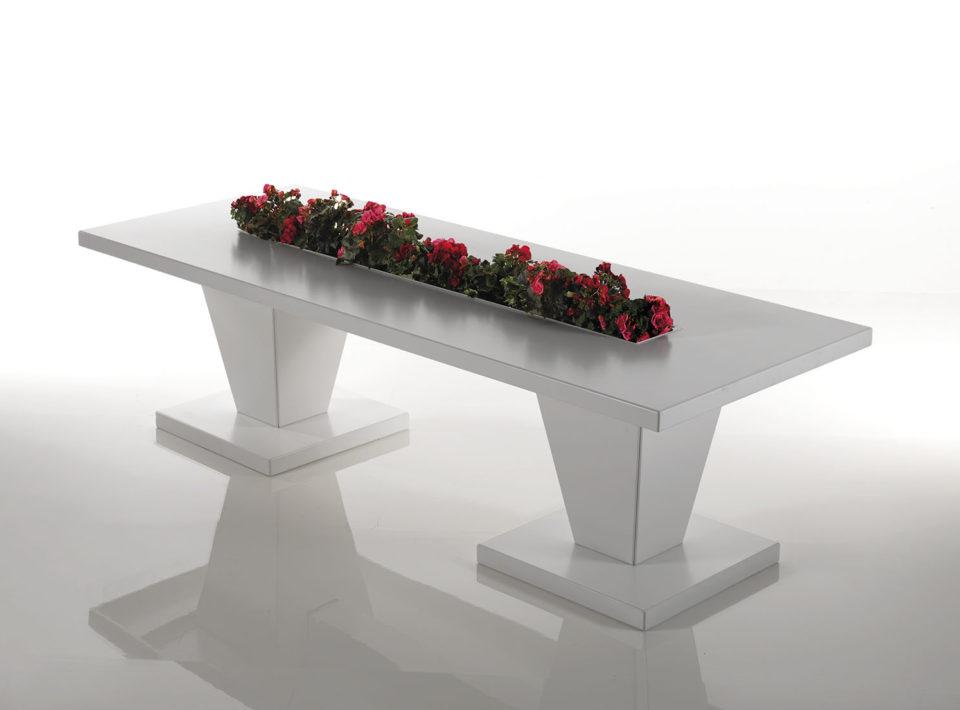 Canopo tavolo rettangolare con fioriera