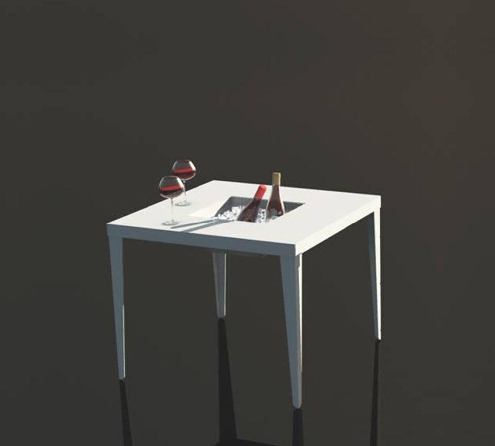 Cenetta tavolo quadrato con fioriera