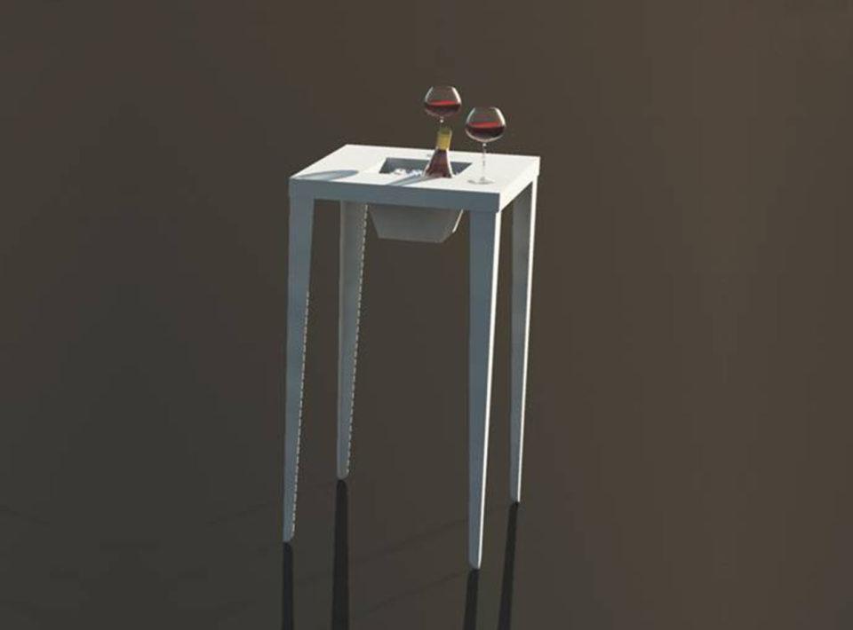 Ivo tavolo quadrato con fioriera