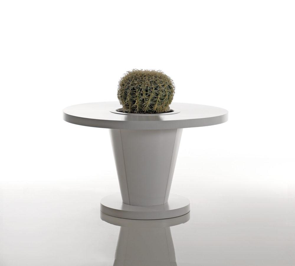 Sirkel tavolo rotondo con fioriera