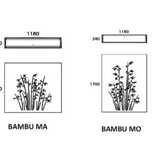 Bambù fioriera traforata