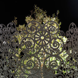 Lace Screen paravento in alluminio