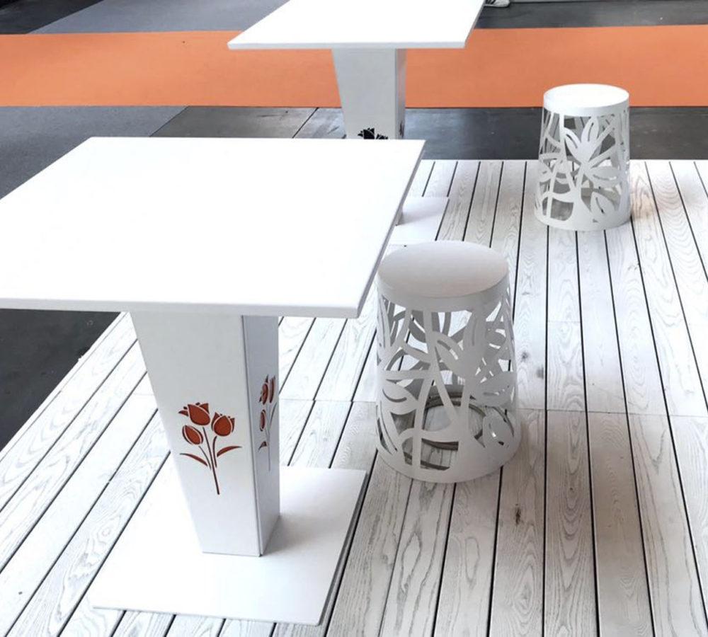 Sunny tavolo in alluminio
